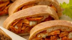 Buffalo Chicken Stromboli    Can't wait for the next gathering to try this ! Bet it will be a big hit !