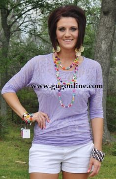 Seconds SALE  Lavender Animal Print Simple Tunic $5.00 Small-Large www.gugonline.com