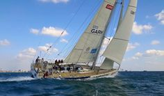 Sailing Team Garmin a Clipper 70 in the Solent for the CRYC Red Socks Regatta.