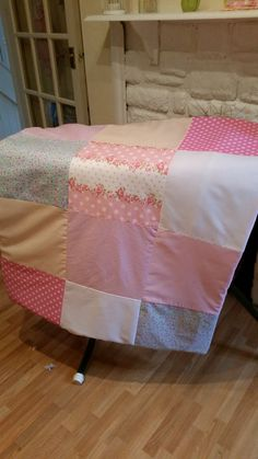 Personalized baby cot quilt