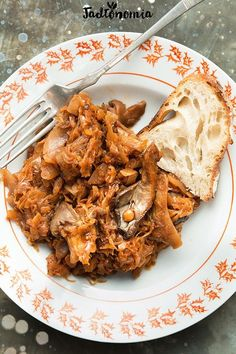 Bigos z boczniakami Vegan Dinners, Lunches And Dinners, Meals, Chef And The Farmer, Gluten Free Recipes, Vegan Recipes, Cooking Dried Beans, Good Food, Yummy Food