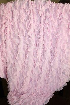 Ruffle Baby Blanket by PreciousCargoDesigns on Etsy, $22.00