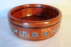 Segmented Bowl with Metal Inlay (Pewter)