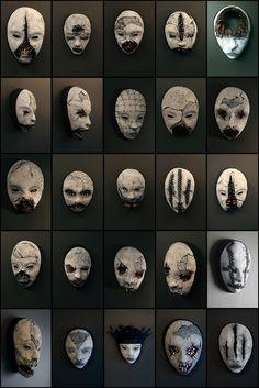 Fantasy   Whimsical   Strange   Mythical   Creative   Creatures   Dolls   Sculptures   new masks from TORVENIUSby *torvenius http://torvenius.deviantart.com/