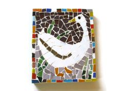 Glass Mosaic Wall Art Mother Goose Home by MosaicMargalita on Etsy, $32.00