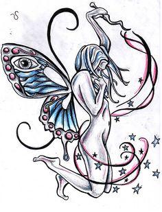 faerie tattoos | faerie tattoo design by chris hatch tattooist 1