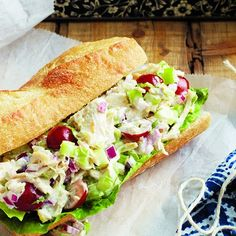 Chicken-Tarragon Sandwiches. I probably don't need a recipe for this, but I like the idea of including grapes and I tend to forget about things if I've not filed them away somewhere. Source: Image by Michael Alberstat