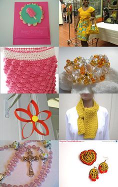 Shameless Advertising in Yellow, Orange and Pink by Tina Packer--Pinned with TreasuryPin.com