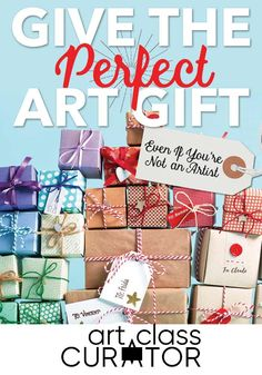 Some people are born gift buyers. For the rest of us, there's gift guides. No matter who you're buying for, if they're artistically inclined, you're in the right place. Gifts For Art Lovers, Lovers Art, Math Projects, Projects For Kids, History For Kids, Teacher Inspiration, Holiday Gift Guide, Art Lessons, New Art