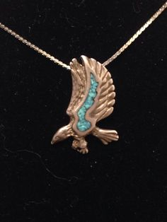 A personal favorite from my Etsy shop https://www.etsy.com/listing/255465499/vintage-sterling-silver-turquoise-inlaid