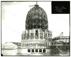 View of the Arkansas State Capitol dome under construction in Sept. 1910, G1735