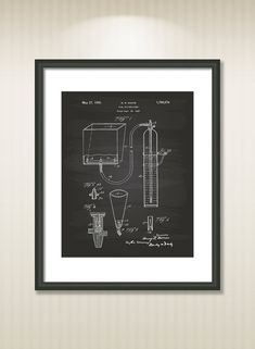 Fire Extinguisher 1930 Patent Art Illustration - Drawing - Printable INSTANT DOWNLOAD - Get 5 colors background
