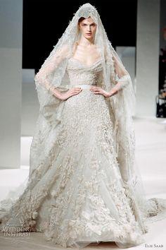 Elie Saab bridal 2011 - haute couture wedding dress with veil