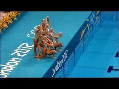 London Olympics 2012 Synchronized Swimming - Team Spain