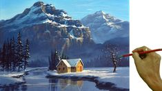 Acrylic Painting Inspiration, Painting Snow, Acrylic Painting Techniques, Painting Videos, Art Techniques, Snow Scenes, Learn To Paint, Portraits, Pattern Art