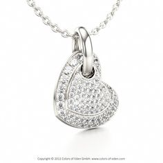 Diamond Heart Pendant Love Song at Colors of Eden