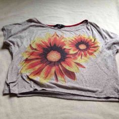 For Sale: Sunflower Crop Top for $4
