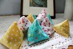 Pyramid Beanbags - super easy to make!!