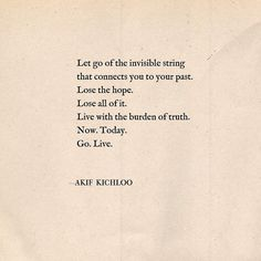 """Lose the hope"" 