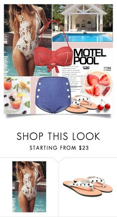 """Yoins: Pool Party"" by loveyoins ❤ liked on Polyvore featuring vintage"