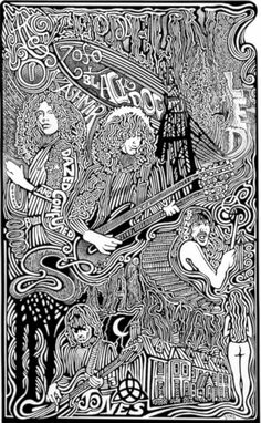 Led Zeppelin Stairway to Heaven Robert Plant by Posterography