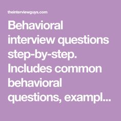 How To Answer Behavioral Interview Questions   The Muse | Information,  Learning, Smart... | Pinterest | Job Interviews
