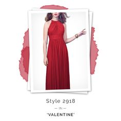 Dessy 2918 Red Bridesmaid Dress. One of our favorite red bridesmaid dresses of all time.
