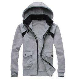 Men's Hoodie Contrasting Zipper Details