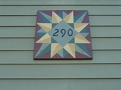 Barn quilt house number