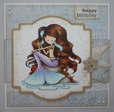 Kat's Cards - check out the mermaid tail's detail!