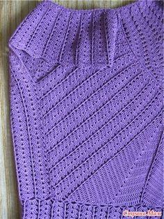 Платье или туника, связанные от кокетки
