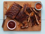Picture of Memphis-Style Hickory-Smoked Beef and Pork Ribs Recipe, from the neelys