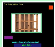 Free Curio Cabinet Plans 081603 - Woodworking Plans and Projects!