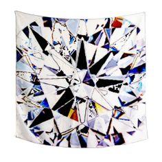 Facets - scarf (white) by Ayako Kanari