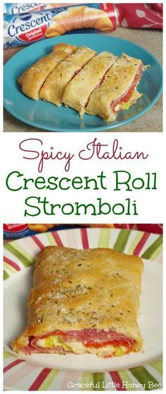See how to make this Spicy Italian Crescent Roll Stromboli for a fast and easy meal on gracefullittlehoneybee.com #ad #warmtraditions