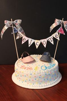 Maria's Paper Craft Place: Twins Baby Shower Cake