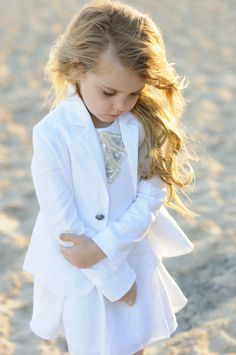 The Capri Dress paired with the London Blazer in Pure White