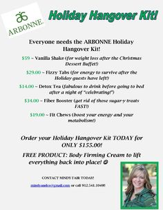 Arbonne - Holiday Hangover Special