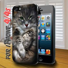 Cute Cat in box Black Case for iphone
