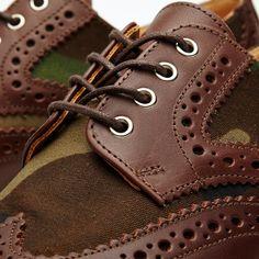 8e2b79b28ad39 Mark McNairy Leather Sole Two-Tone Camo Brogue Woodland Camo