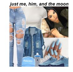 """☄"" by trap-u-n-z-e-l ❤ liked on Polyvore featuring Chicnova Fashion and River Island"