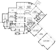 Craftsman Plan: 3,480 Square Feet, 2-3 Bedrooms, 3.5 Bathrooms - 699-00105