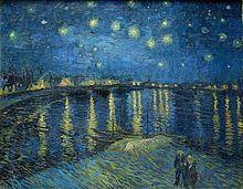 "Vincent van Gogh, ""Notte stellata sul Rodano"", 1888,olio su tela. Parigi, Musée d'Orsay"