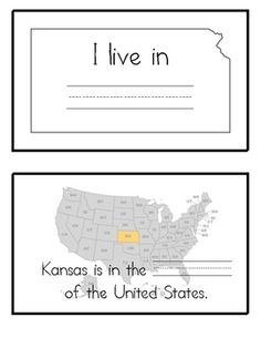 FREE This printable booklet includes the Kansas State symbols, map, flag, etc. This booklet includes ruled lines for your kids to TRACE the names of each symbol. Kindergarten Social Studies, Teaching Social Studies, Kindergarten Crafts, Kansas Day, State Of Kansas, Kansas Facts, Classroom Activities, Classroom Ideas, Map Skills