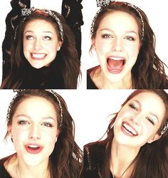 Melissa Benoist eye make up and hair