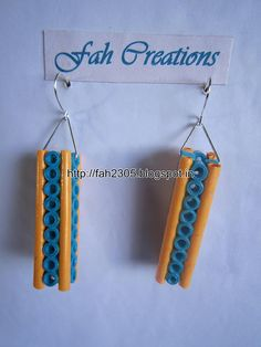 Handmade Jewelry - Paper Quilling Bar Earrings (19)
