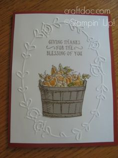 Paisleys & Posies Stampin' Up! Basket of Wishes