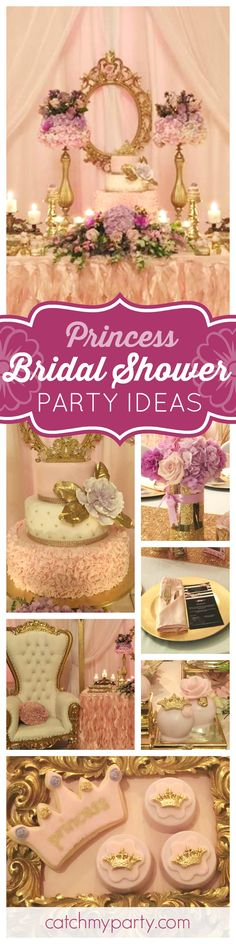 Don't miss this gorgeous Elegant Princess Garden Party. The dessert table sis absolutely stunning!! See more party ideas and share yours at CatchMyParty.com