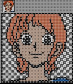 Nami One Piece Perler Bead Pattern