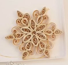 quilled snowflake christmas ornament